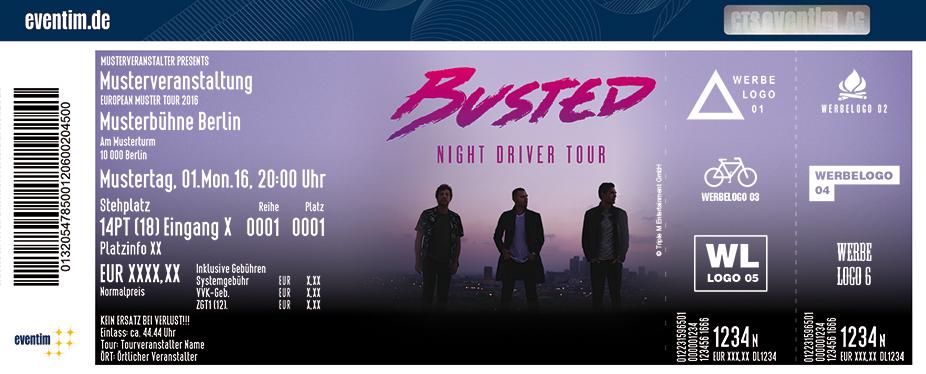 Busted Karten für ihre Events 2017