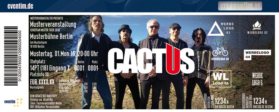 Cactus Karten für ihre Events 2017
