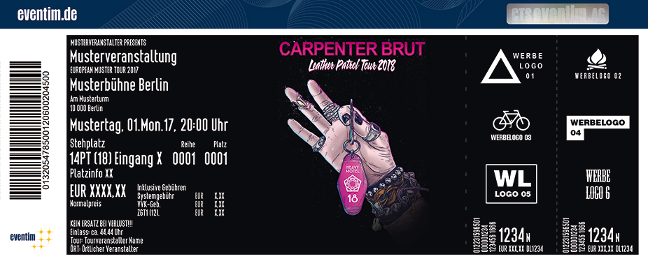 Karten für Carpenter Brut: Leather Patrol Tour 2018 in Leipzig