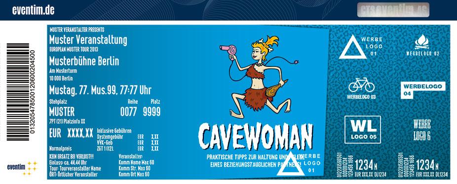 Cavewoman Karten für ihre Events 2017