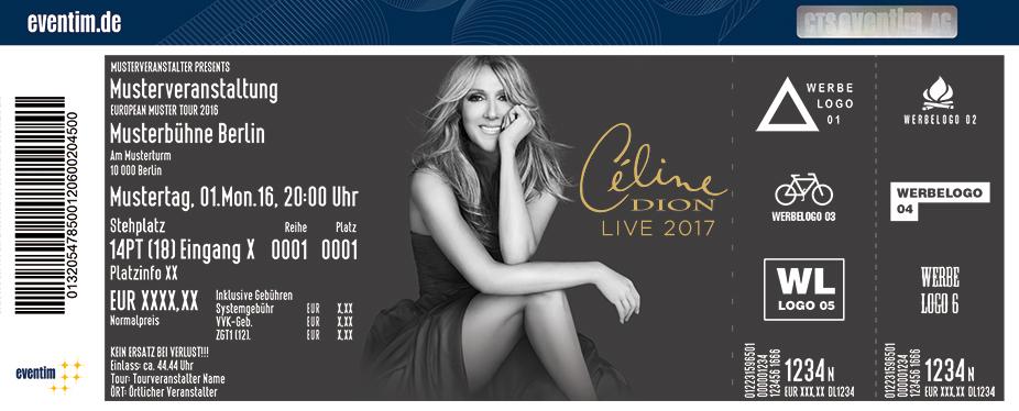 Céline Dion Karten für ihre Events 2017