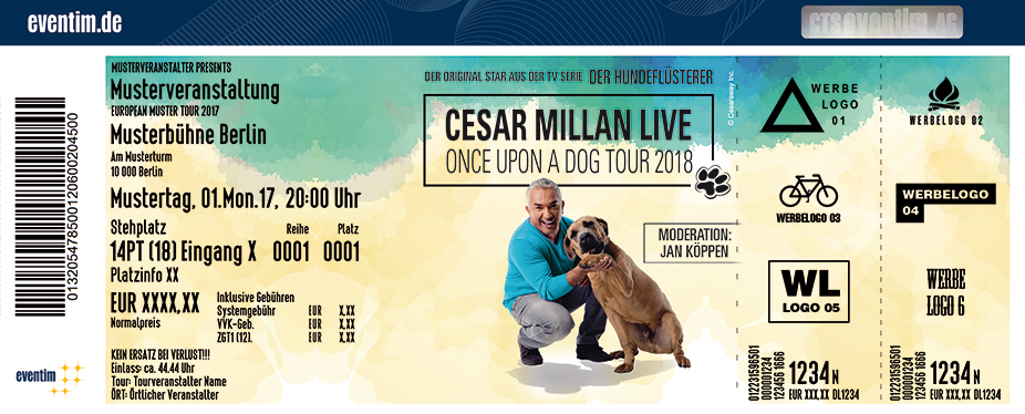 Karten für Cesar Millan: Once Upon A Dog Tour 2018 in Hamburg
