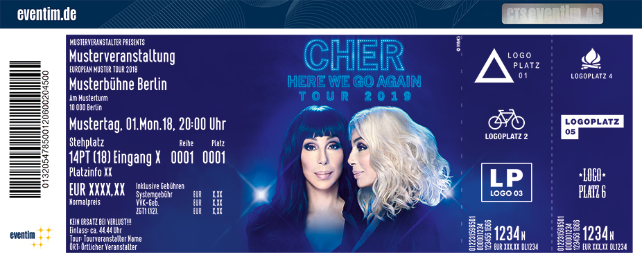 CHER - Here We Go Again - Tour 2019