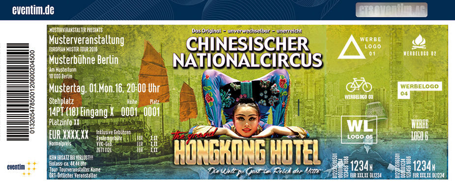 Karten für Chinesischer Nationalcircus: The Grand Hongkong Hotel in Bad Arolsen / Ot Mengeringhausen