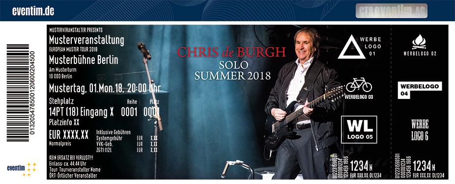 Chris De Burgh Karten für ihre Events 2018