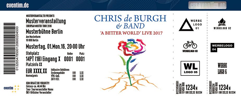 Chris De Burgh Karten für ihre Events 2017