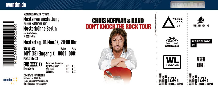 Karten für Chris Norman: Don't Knock The Rock - Tour 2018 in Rostock
