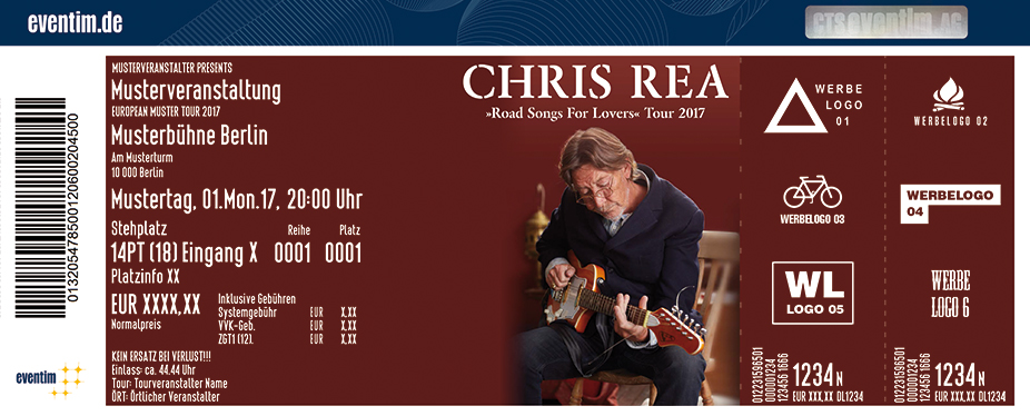 Karten für Chris Rea: Road Songs For Lovers Tour 2017 in Düsseldorf