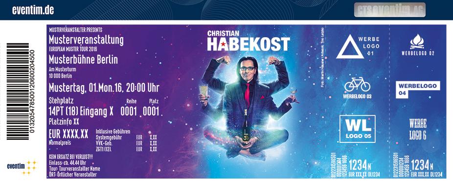 Karten für Christian Chako Habekost - de Weeschwie'sch-MÄN in Wiesloch