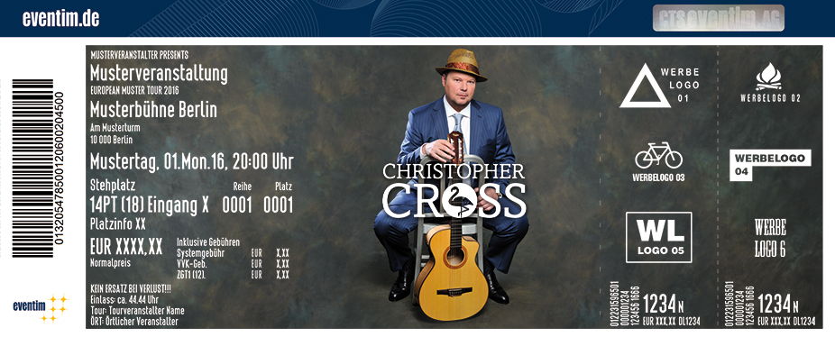Christopher Cross Karten für ihre Events 2017
