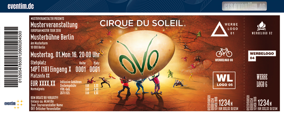 Karten für Cirque du Soleil: OVO in Oberhausen