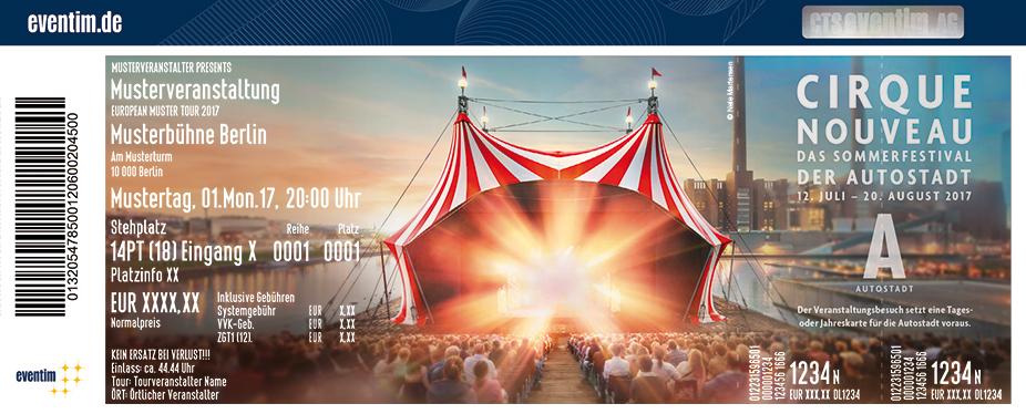 Karten für Cirque Nouveau - Das Sommerfestival in der Autostadt | 12. Juli - 20. August 2017 in Wolfsburg