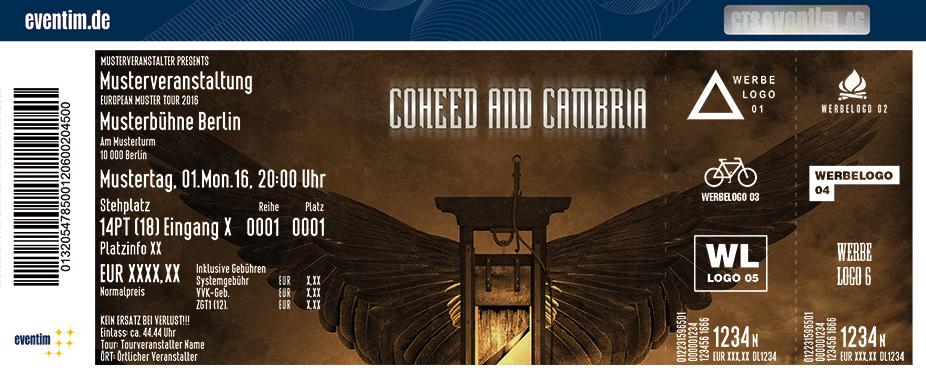 Coheed And Cambria Karten für ihre Events 2017