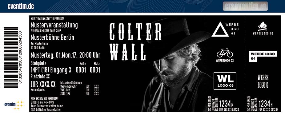 Colter Wall Karten für ihre Events 2017