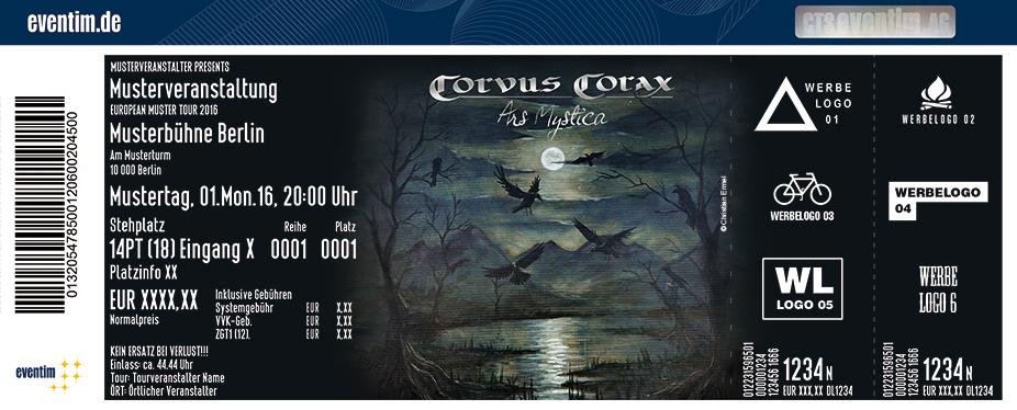 Corvus Corax Karten für ihre Events 2017