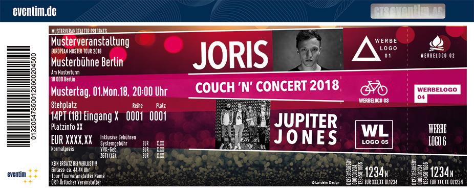 Karten für Couch 'n' Concert 2018: mit Joris und Jupiter Jones in Straelen