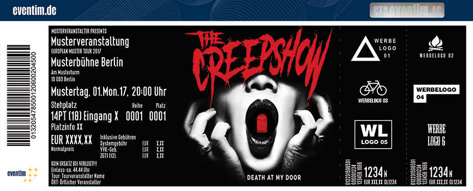 Karten für The Creepshow: Death At My Door - Tour 2018 in Münster