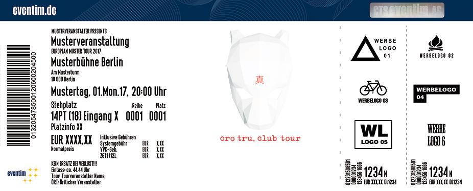 Karten für CRO: tru.club tour 2018 in Wien