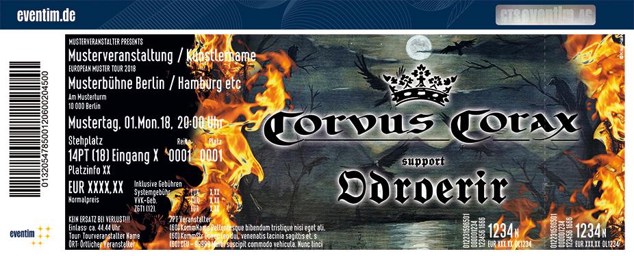 Corvus Corax Karten für ihre Events 2018