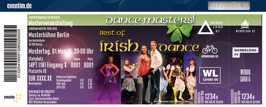 Dance Masters! Best Of Irish Dance Karten für ihre Events 2017