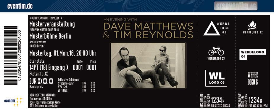 Dave Matthews Band Karten für ihre Events 2017