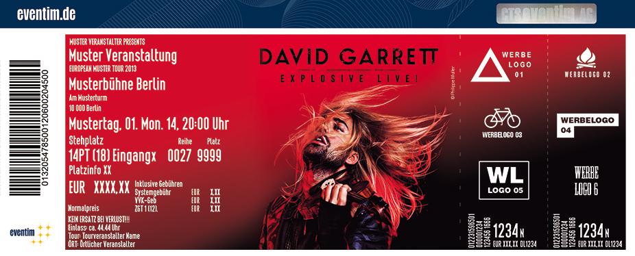 David Garrett Karten für ihre Events 2017