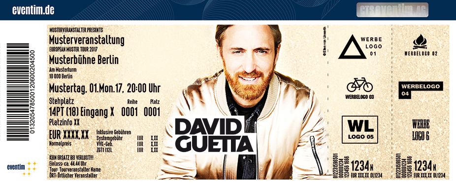 David Guetta Karten für ihre Events 2017