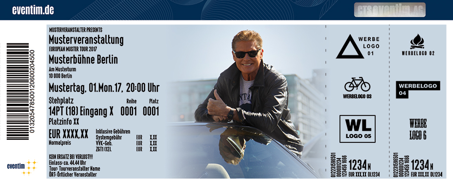 Karten für David Hasselhoff - 30 Years Looking For Freedom in Wien