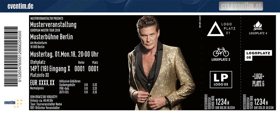 Tickets Für David Hasselhoff In Berlin Am 031019 Max Schmeling