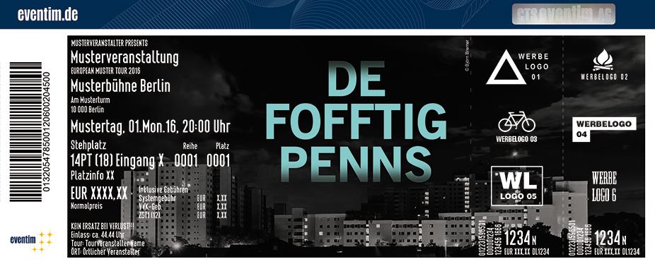 De Fofftig Penns Karten für ihre Events 2017