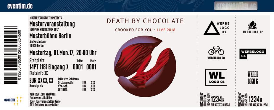 Death By Chocolate Karten für ihre Events 2017