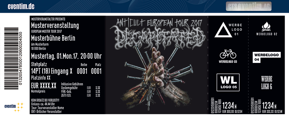 Karten für Decapitated: Anticult European Tour 2017 in Hamburg