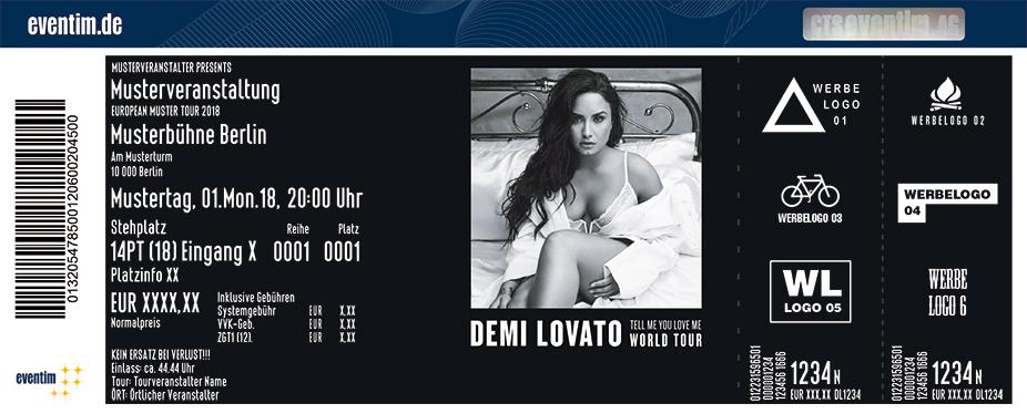 Demi Lovato Karten für ihre Events 2018