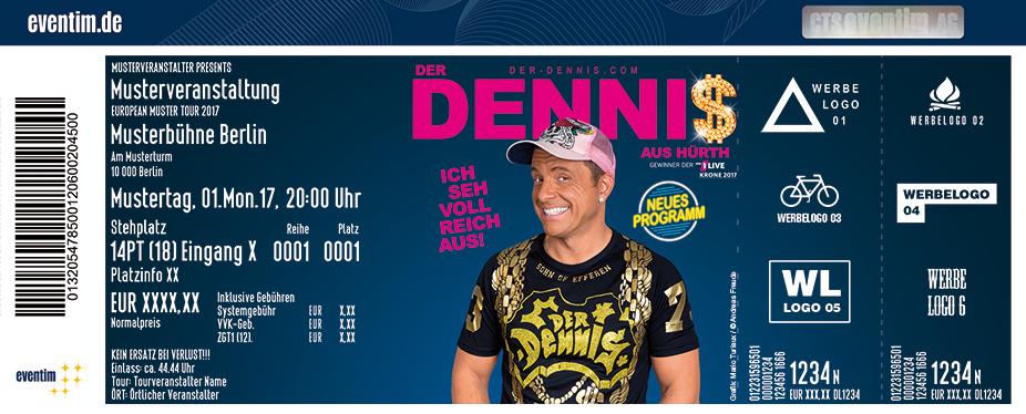 Der Dennis Karten für ihre Events 2018