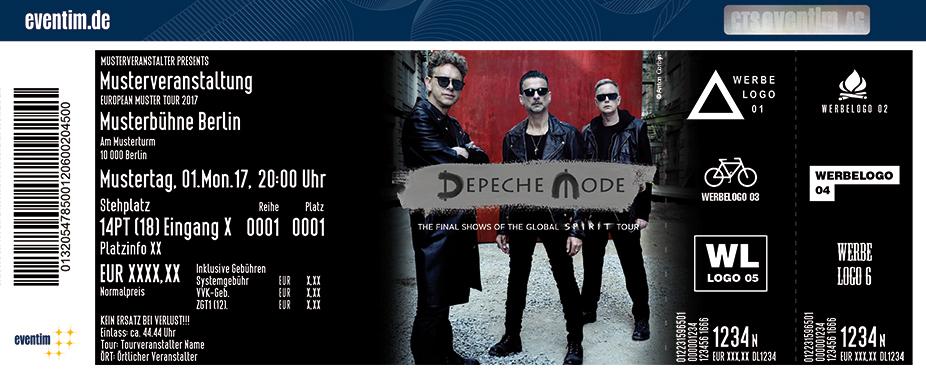 Depeche Mode Karten für ihre Events 2018