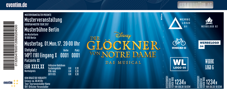 Karten für Disneys DER GLÖCKNER VON NOTRE DAME in Berlin in Berlin