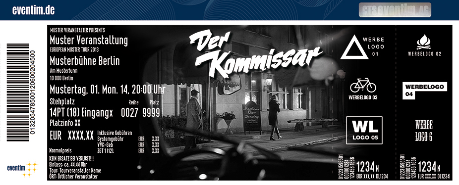Karten für Der Kommissar - Dinnertheater präsentiert von WORLD of DINNER in Kassel