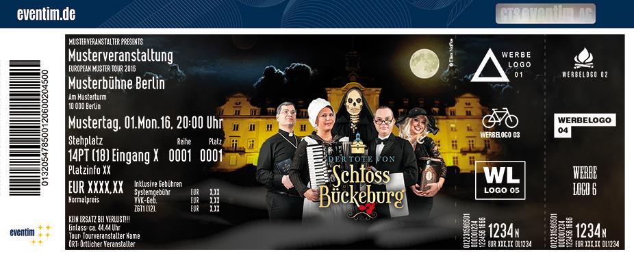 Karten für Der Tote von Schloss Bückeburg - Die Krimi-Komödie mit Dinner-Menü  in Bückeburg