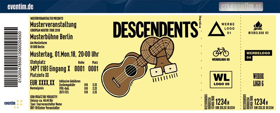 Descendents Karten für ihre Events 2018