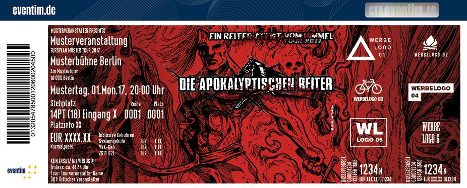 Karten für Die Apokalyptischen Reiter: Ein Reiter steigt vom Himmel Tour 2017 in Dresden