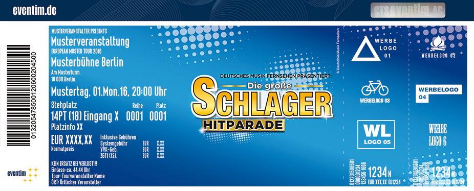 Karten für Die große Schlager Hitparade 2018 mit Sascha Heyna, Monika Martin, Olaf der Flipper in Aschaffenburg