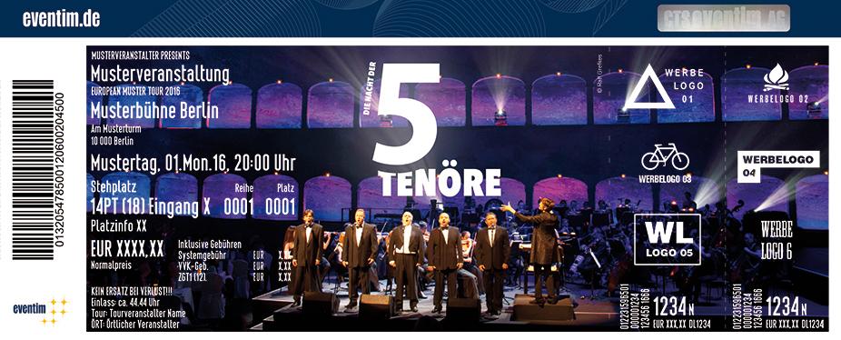 Karten für Die Nacht der 5 Tenöre - Jubiläumstournee in Vallandar