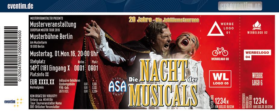 Die Nacht Der Musicals Karten für ihre Events 2017