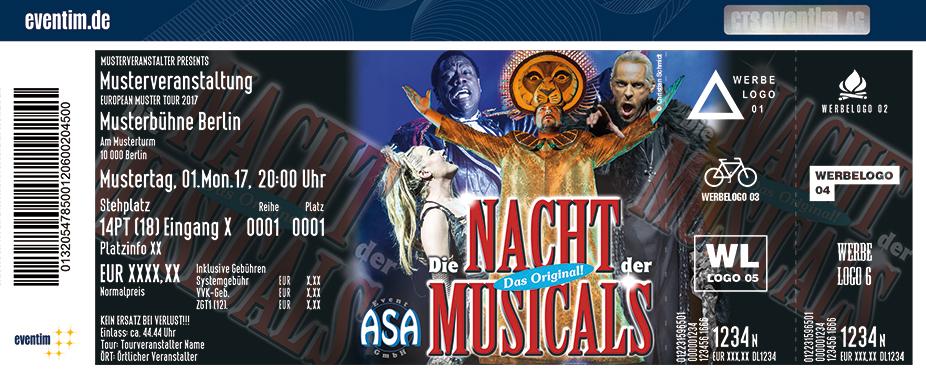 Karten für Die Nacht der Musicals - Tour 2018 in Schwäbisch Hall