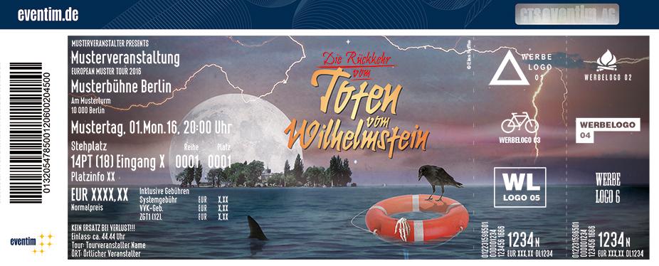 Karten für Die Rückkehr vom Toten vom Wilhelmstein -  Die Krimi-Komödie mit Dinner-Menü in Wunstorf