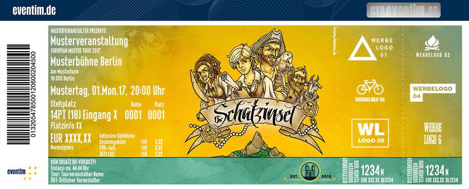 Karten für Die Schatzinsel - Das Musicalabenteuer für Klein und Groß in Ilmenau