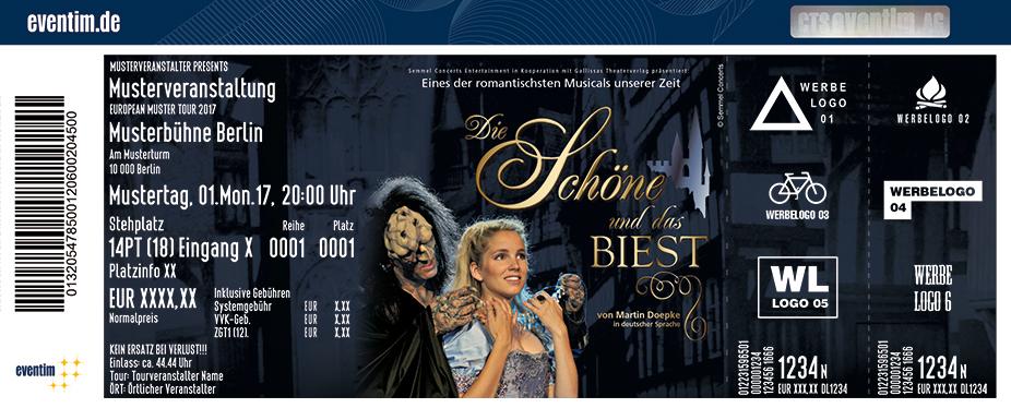 Karten für Die Schöne und das Biest - Eines der romantischsten Musicals unserer Zeit in Münster