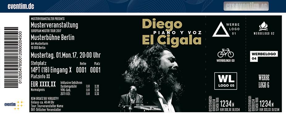 Diego El Cigala Karten für ihre Events 2018