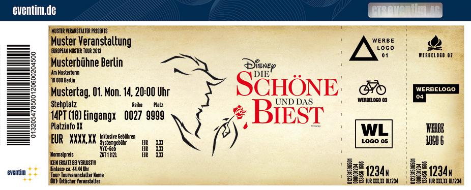Karten für Disney Die Schöne und das Biest in Köln