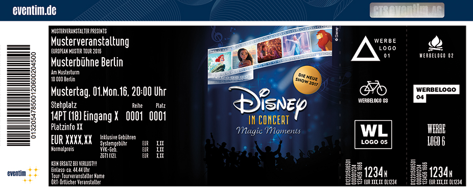 Karten für Disney In Concert: Magic Moments mit dem Hollywood Sound Orchestra in Regensburg